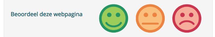 Feedbackknop Klantinfocus klantteverdenheid smileys